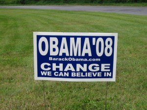 Obama \'08 Lawn Sign