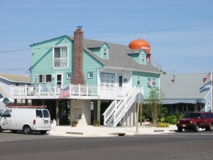 My grandmother\'s house in Beach Haven, NJ. The new owners put it on stilts.