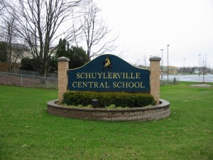 Schuylerville School Sign