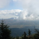 Some of the clouds floating by the summit of Mt. Equinox.